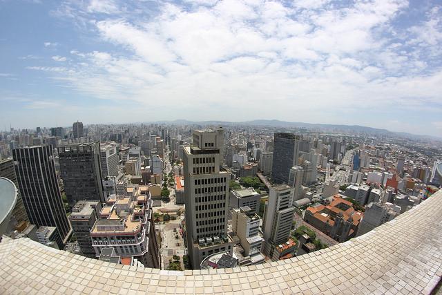 Vista do edifício Altino Arantes, no centro de São Paulo