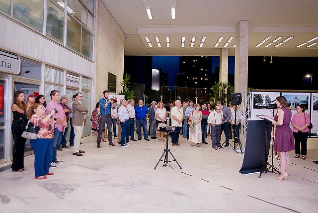 Lançamento do projeto Identidade Arquitetônica no saguão do Paço Municipal de Campinas