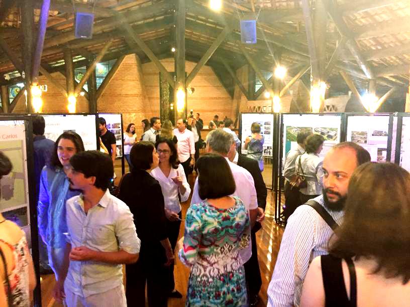 Participantes da 1ª Mostra de Arquitetura da AEASC em São Carlos/SP.
