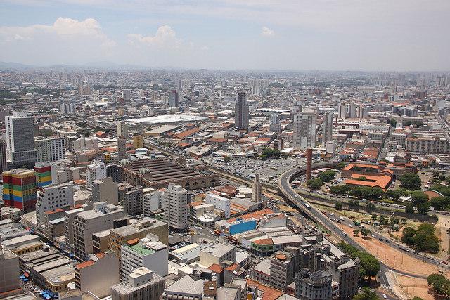 Vista área da cidade de São Paulo.