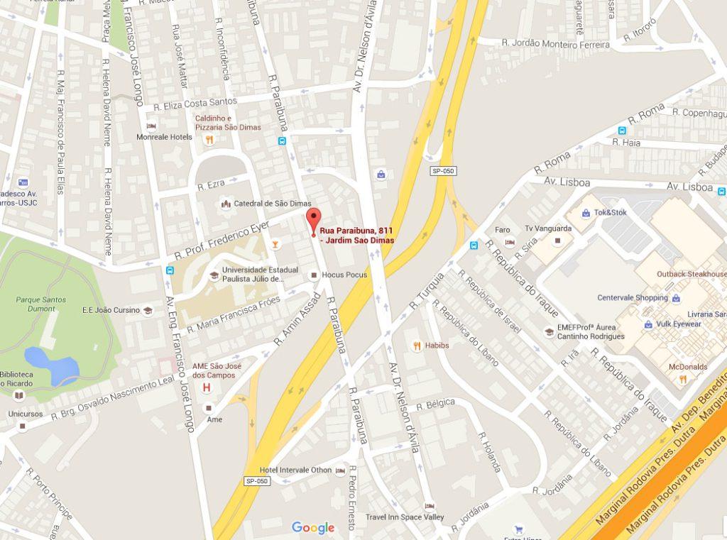 Regional 08 SJCampos - Mapa