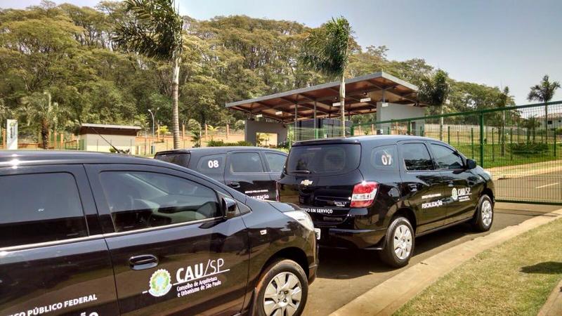Ação do projeto Fiscalização em Ação na cidade de Ribeirão Preto. Imagem: Arquivo CAU/SP.