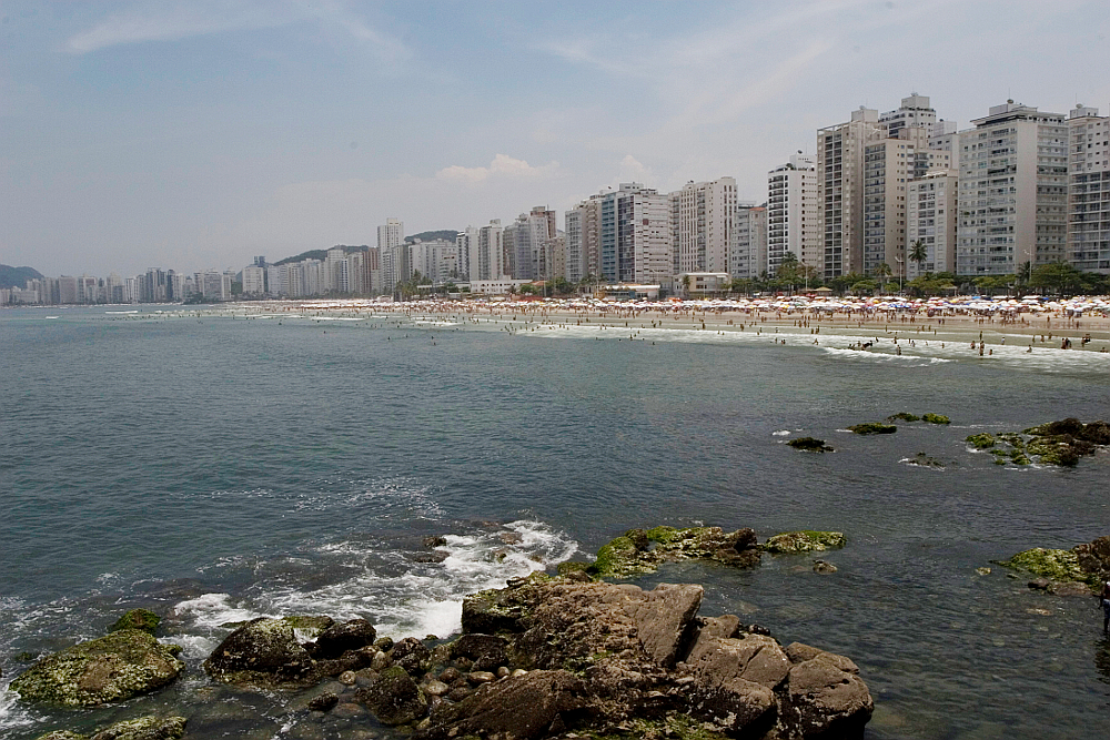 Praia de Pitangueiras no Guarujá/SP