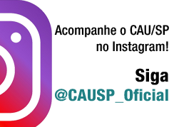 Siga o CAU/SP no Instagram