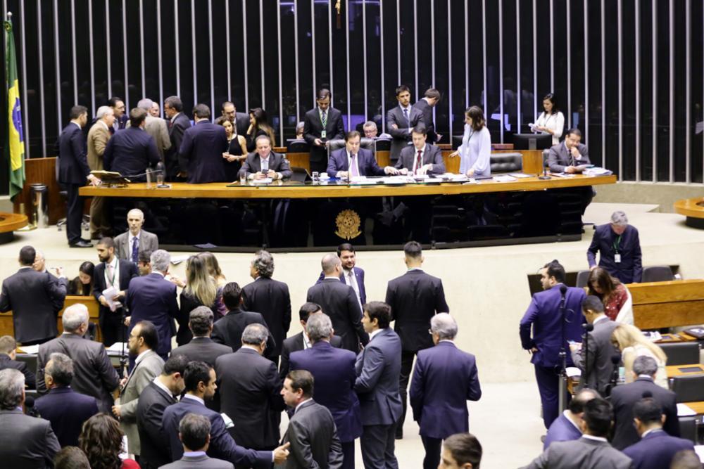 Plenário da Câmara dos Deputados em Brasília
