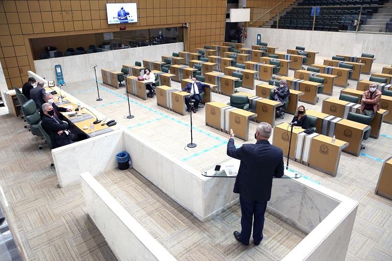 Plenário Juscelino Kubistchek, da Assembleia Legislativa de SP. Foto: Sergio Galdino/Alesp.